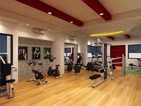 Commerical home gym interior design ideas in india u cardio fitness