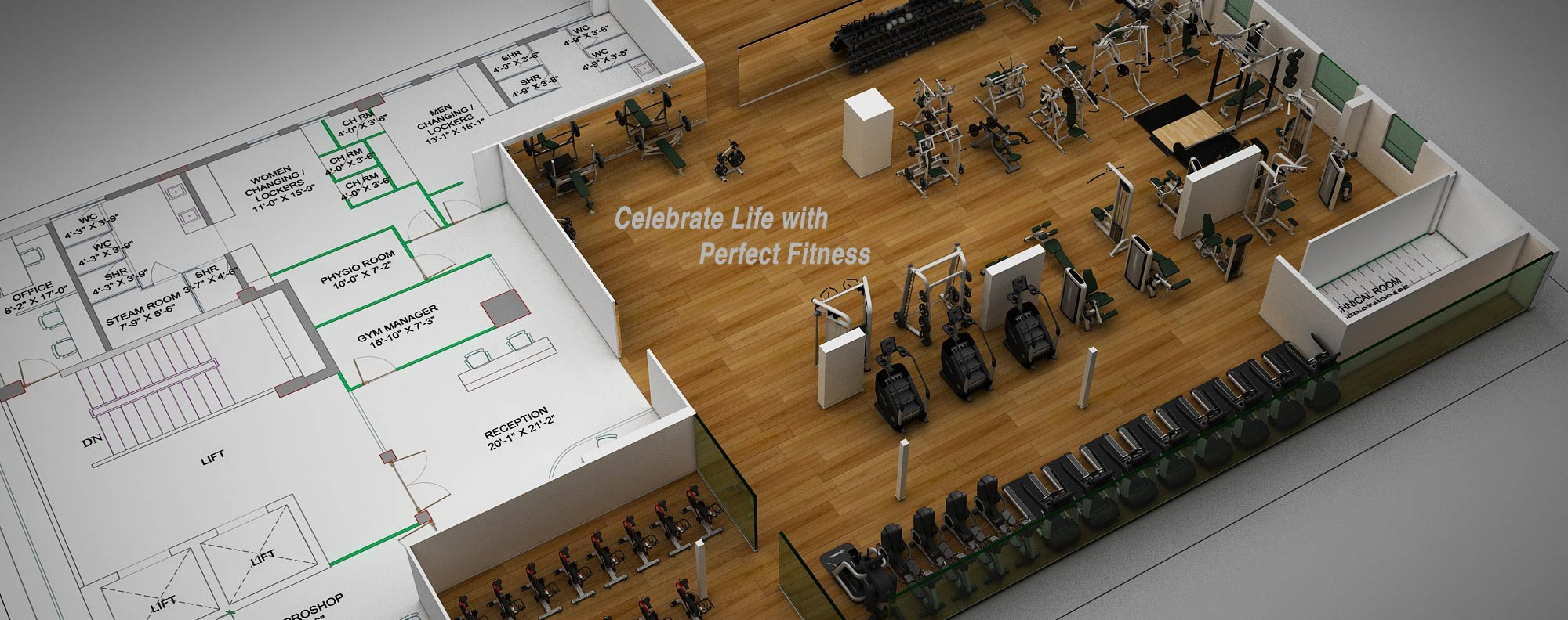 Commerical & Home Gym Interior Design Ideas in India ...